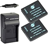 DSTE 2x DMW-BCF10 DMW-BCF10E Battery + DC57 Travel and Car Charger Adapter for Panasonic Lumix DMC-F2 FT3 FT4 FX68 FX700 FX75 TS2 TS3 TS4 F3 FH1 FH20 FH22 FH3 Camera