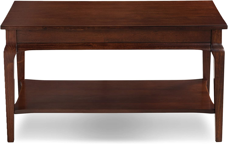 Leick Contemporary Stratus Condo Apartment Coffee Table with Display Shelf