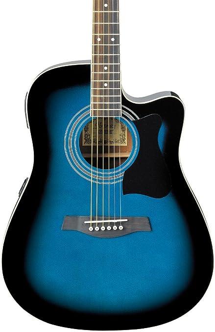 Ibanez v70ce Electroacústica guitarra transparente azul: Amazon.es ...
