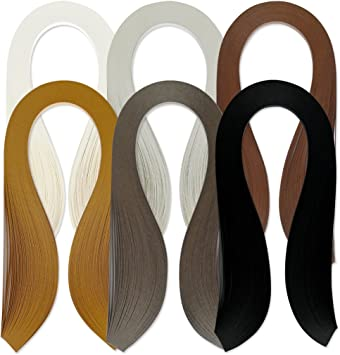 Paper Width 5mm Juya Paper Quilling Set 600 Strips 6 Colors 39cm Length//strips 3//5//7//10mm Width Available