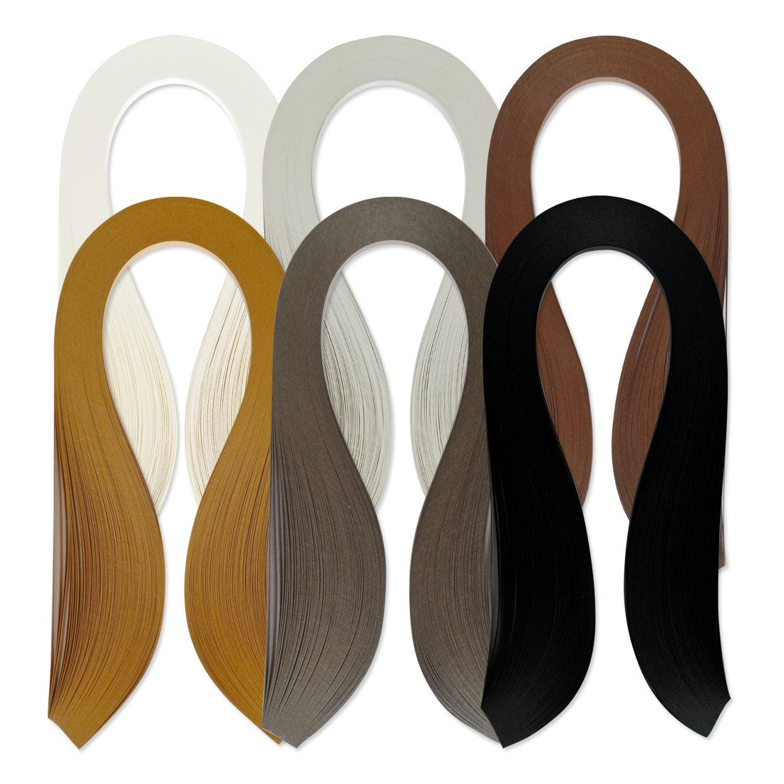 Juya Paper Quilling Set 600 Strips 6 Colors 39cm Length/strips 3/5/7/10mm Width Available (Paper Width 7mm) QP390C6