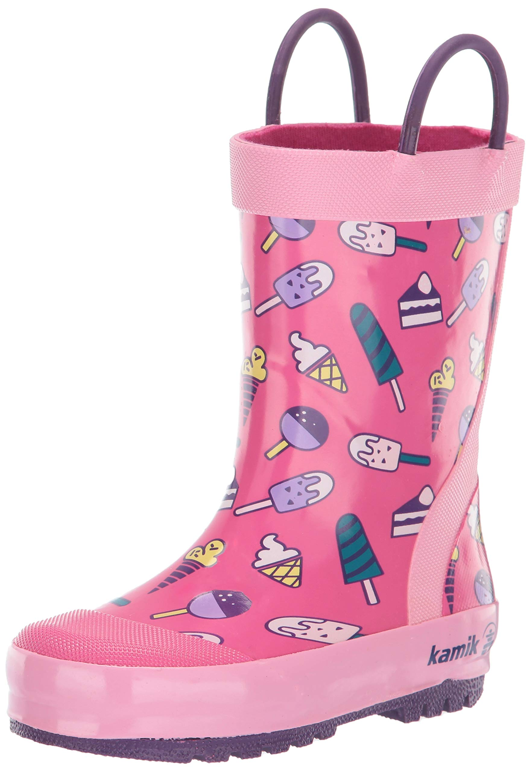 Kamik Girls' Sweets Rain Boot, Pink, 1 M US Little Kid
