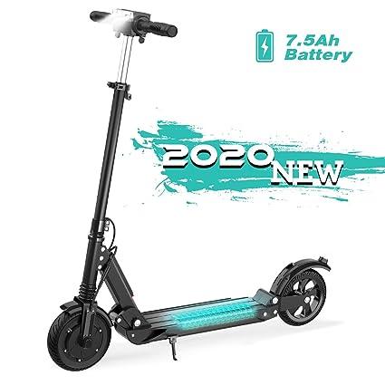 GeekMe Patinete Eléctrico hasta 30 km/h | Scooter Eléctrico Plegable con Pantalla LCD | Batería Li-Ion 7,5 A | Carga máxima 120 kg para Adultos y ...