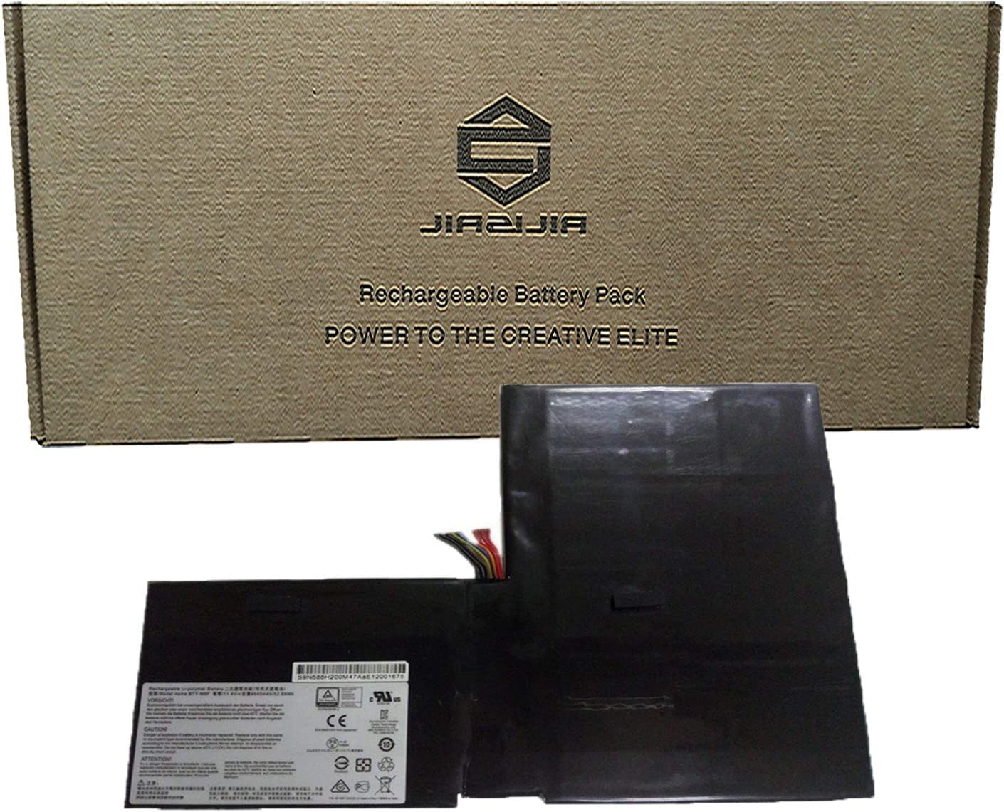 JIAZIJIA BTY-M6F Laptop Battery Replacement for MSI GS60 2PL 2QE 6QE 6QC MS-16H2 PX60 Series Notebook 52.89Wh