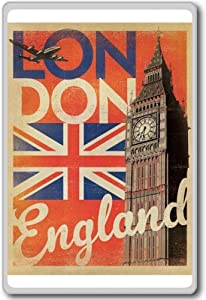 London, England, Europe Vintage Travel Fridge Magnet