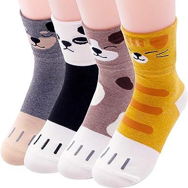 Calcetines de gato para mujer, diseño de búho Animal - Pawpaw 4 ...