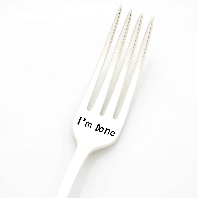 Hand Stamped Vintage Fork,