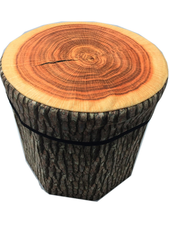 Kreative Stump Aufbewahrungsbox Stump Truhen Faltbarer Sitzhocker Belastbar bis