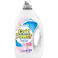 Cold Power Sensitive Pure Clean, Liquid Laundry Detergent, Fragrance Free and Dye Free, 1 Litre, 20 Washloads