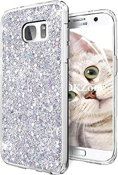 OKZone Funda Samsung Galaxy S7 Edge, Cárcasa Brilla Glitter ...