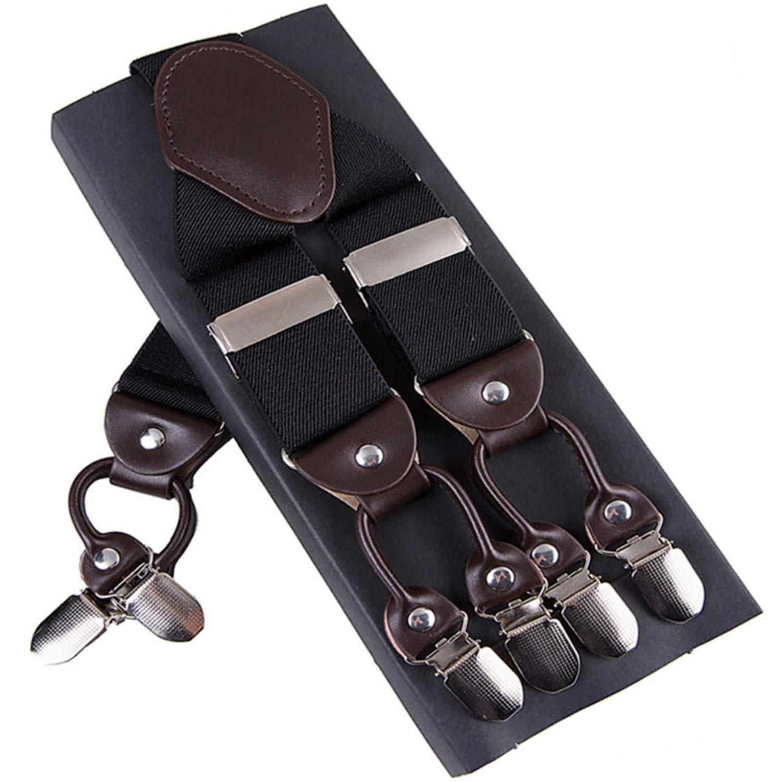 Fashion Suspenders leather Braces Male Vintage Casual Trousers Strap 3.5120cm