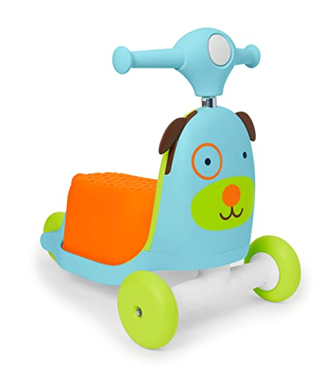 Skip Hop Kids 3-in-1 Ride On Scooter and Wagon Toy, Dog