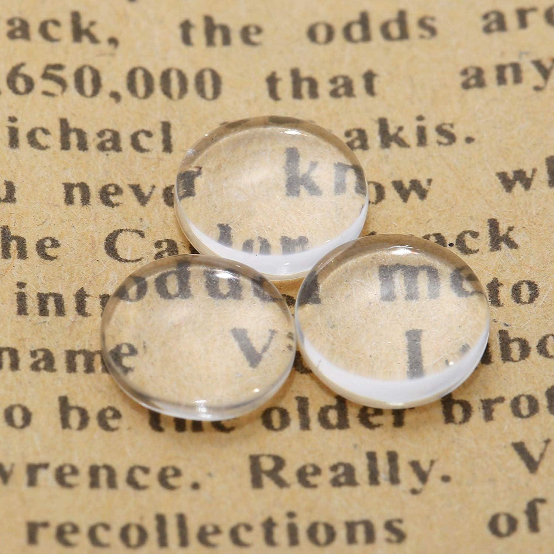 8mm Dophee 200Piezas Cristal claro redondo de Cabochon de cristal de espalda de la b/¨/®veda de teja de joyer/¨/ªa de fabricaci/¨/®n