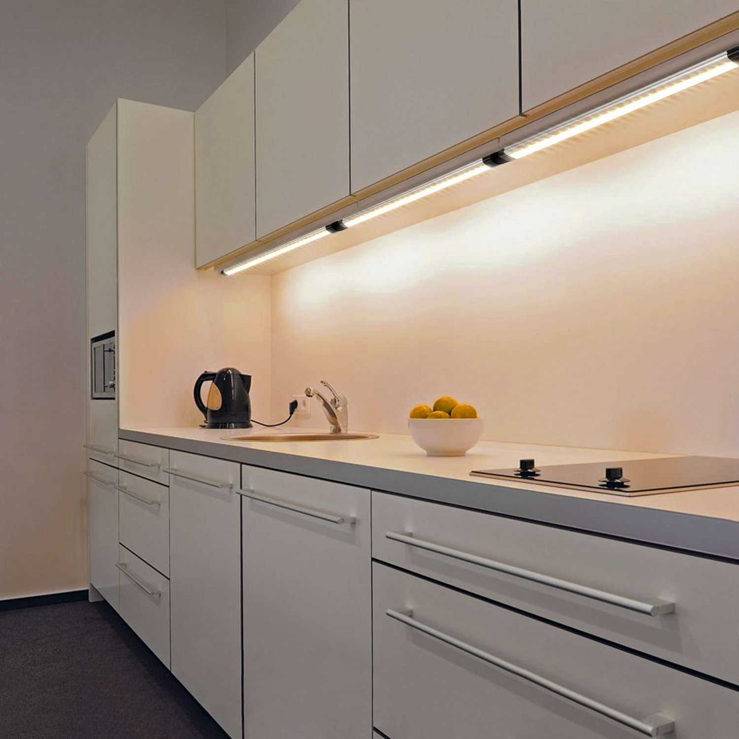 Light Under Kitchen Cabinet: Albrillo LED Under Cabinet Lighting, Dimmable