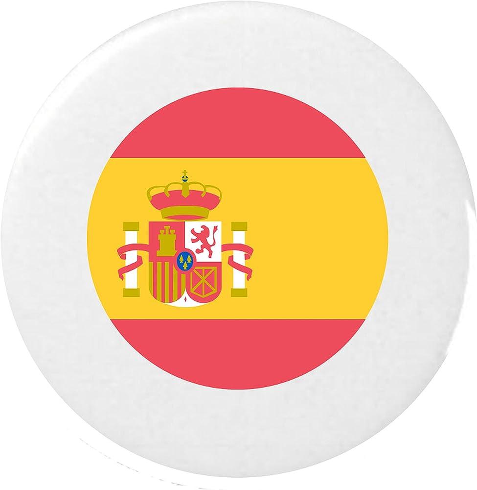 Bandera Insignia para España Emoji 25mm Botón / Flag for Espana Emoji 25mm Button Badge: Amazon.es: Ropa y accesorios