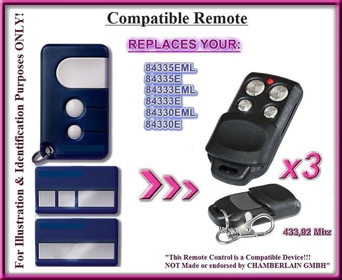 84333E 84335E 8747E Compatible Remote Control 433.92MHz. MOTORLIFT 84330E