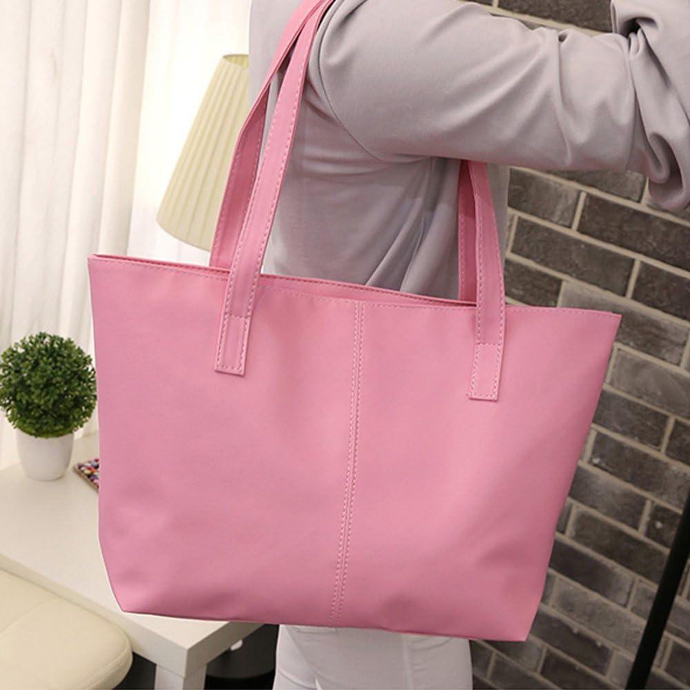 Pink-28 Accovy Women Bag,Women Ladies Leather Shoulder Bag Celebrity Tote Purse Travel Bag Large Pink
