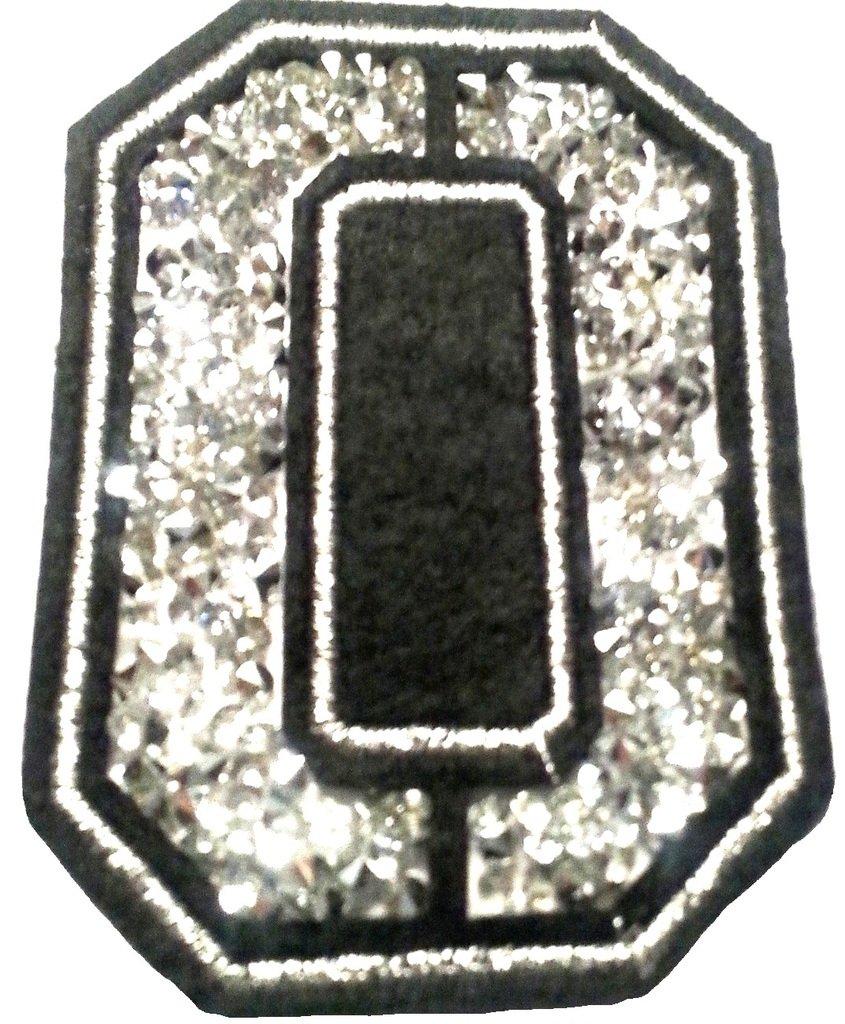 /Écusson Patch Badge Strass Brod/é ecusson Lettre Alphabet thermocollant C 8-10 cm