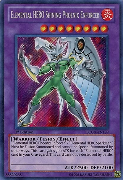 Yu-Gi-Oh! - Elemental HERO Shining Phoenix Enforcer (LCGX-EN139) - Legendary Collection 2 - 1st Edition - Secret Rare