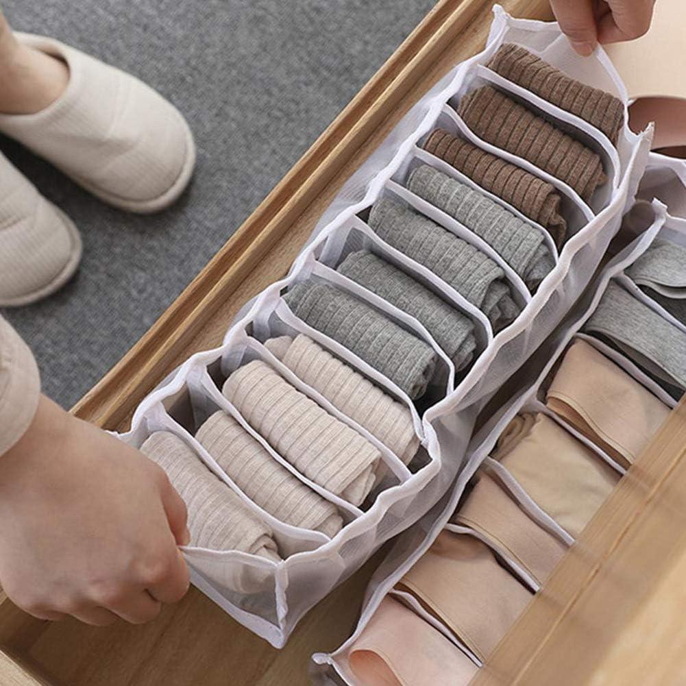 3PCS Multifunction Socks Holders Dividers Underwear Storage Boxes Drawer Closet Organizer Saver Bags