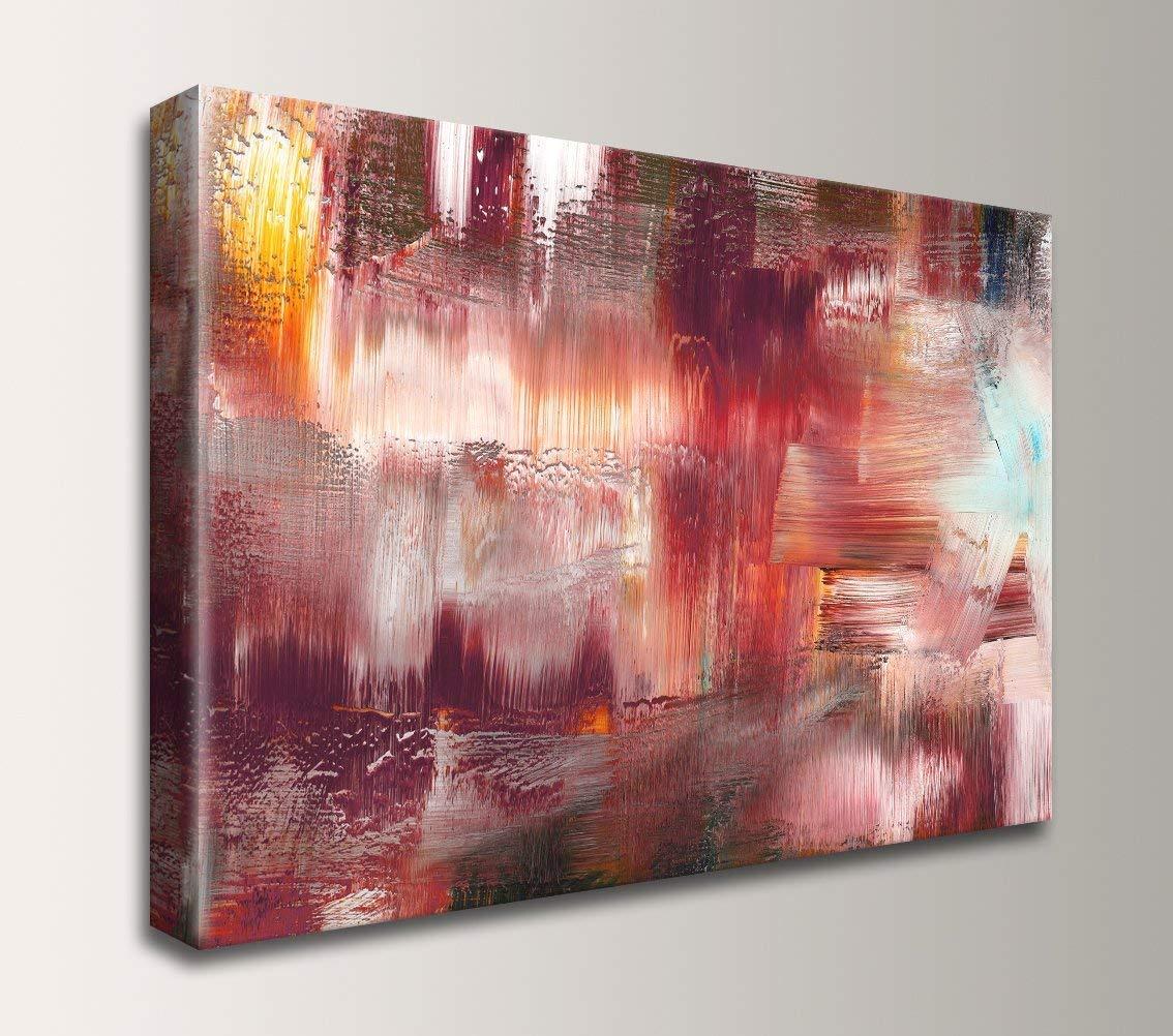 Maroon Abstract Painting - Canvas Artwork Print -