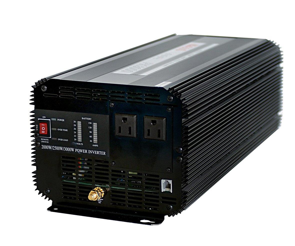 入力DC24V⇒AC100V/2500W【矩形波】インバーターPK3000(24V)Argus B00Y1Z97K4  - -