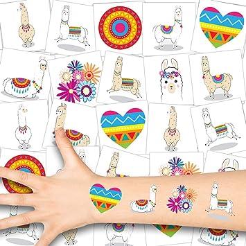 German Trendseller® - 36x Tatuajes Lama Niños - Conjunto ...
