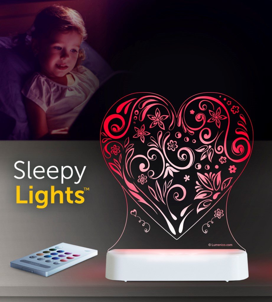 Aloka Love Heart Starlight LED Remote Controlled Decorative Night Light 8 Multicolor 8 Lumenico 0331
