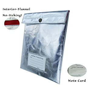 1. Fireproof Safe Waterproof bag with Flannel Material