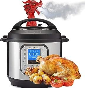 Instant Pot Steam Diverter, Fire-Breathing Dragon Original Steam Release Accessory Steam for Pot Pressure Cooker Kitchen SuppliesDiverter (1 PCS/RED)