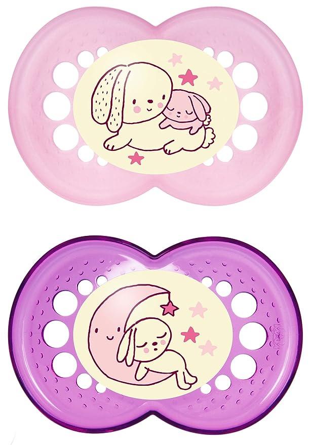 """150 opinioni per MAM 110522- Ciuccio """"Night"""" in lattice per bambine dai 6 ai 16 mesi, senza BPA,"""