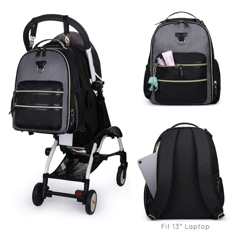 mommore Baby Wickelrucksack Waschfrei Wickeltasche mit Wickelunterlage Multifunktional Gro/ße Kapazit/ät Babytasche Reisetasche