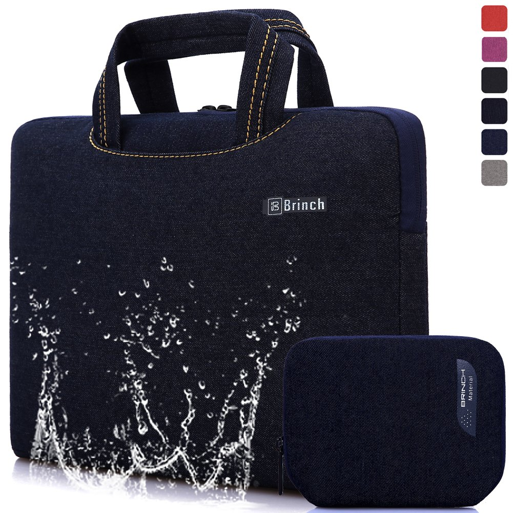 BRINCH Universal Fabric Portable Thin Light Durable Waterproof Anti-tear 15 - 15.6 Inch Laptop Pouch Sleeve Case Bag / Carrying Handbag Briefcase / Laptop Messenger Bag, Ultra Protective With Soft Foam For 15 - 15.6 Inch Laptop / Macbook / Notebook /Table