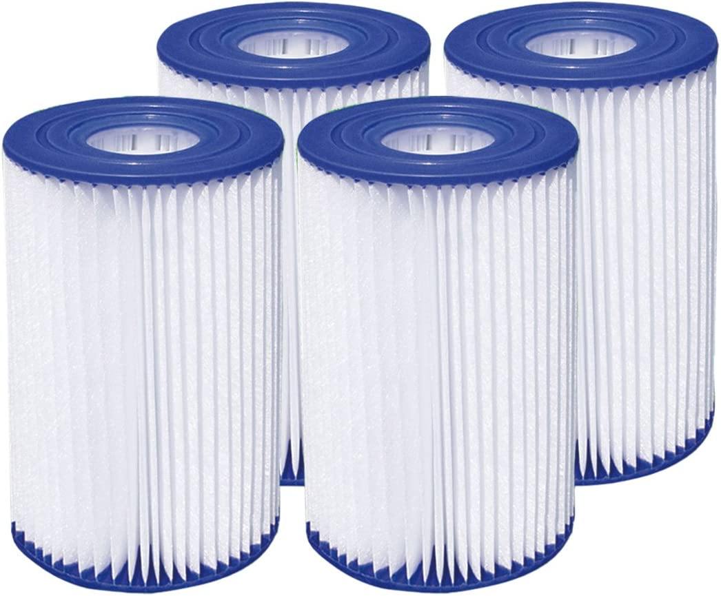 """Summer Waves 4.13""""x8"""" Type A/C Pool Filter Cartridge (4 Pack)"""