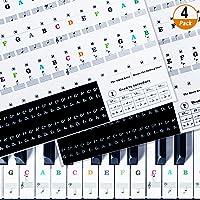 Pegatinas de Piano 4 Piezas Pegatinas de Partituras
