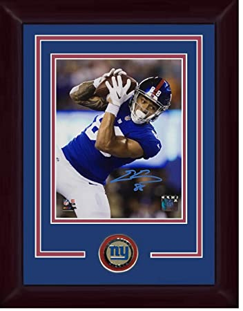 04008efa2 Evan Engram Autographed Signed 8x10 Photo Ins 88 Framed Giants Coin Rookie  Autograph - Certified Authentic