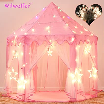 Princess Tent Large Castle Playhouse for Children Indoor and Outdoor Games Hexagon Kids Play Tent with  sc 1 st  Amazon.com & Amazon.com: Princess Tent Large Castle Playhouse for Children ...