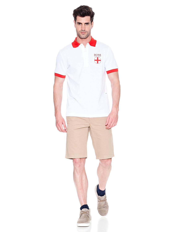 e15eb300 Amazon.com: Hugo Boss England Paddy Flag Polo Shirt World Cup 2014 Mens  Green Label Small: Clothing