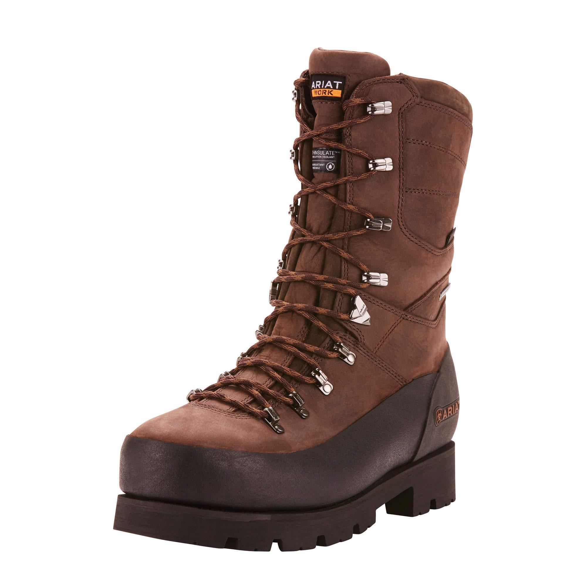 Ariat Work Men's LINESMAN 10'' GTX 400G Composite Toe Boot, bitter brown, 7.5 D US by ARIAT