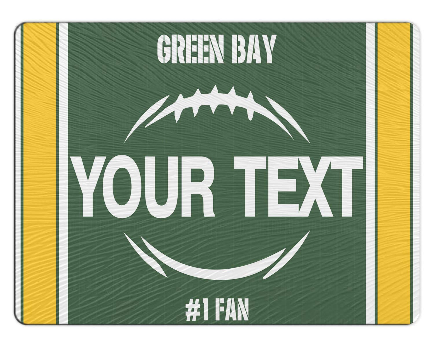 BRGiftShop Personalized Custom Football Team Green Bay 11x15 Glass Cutting Board