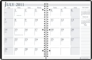 """product image for House of Doolittle Monthly Academic Appointment Book, 14-Months, July-August, 2012-2013, 8-1/2"""" x 11,  Spiralbound, 3-Hole Punched, Black Cover"""