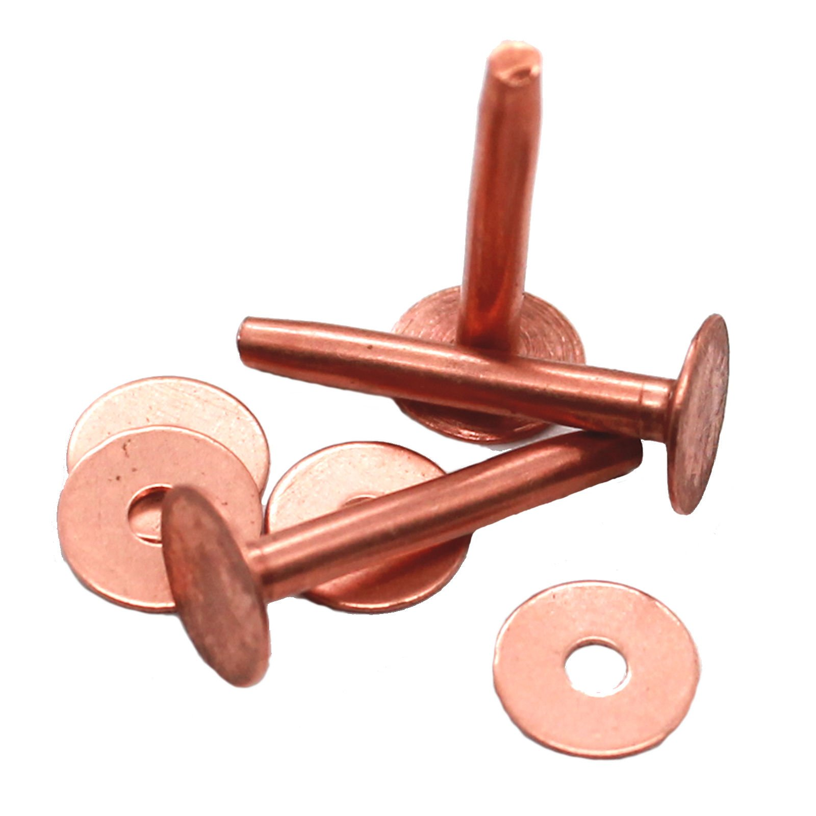 C.S. Osborne Size 14, 3/4'' Long Solid Copper Rivets 1 lb Box Approx. (300 Count)