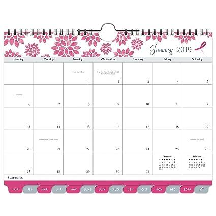 Breast Cancer Awareness Calendar 2019 Amazon.: Day Timer 2019 Monthly Wall Calendar, 11