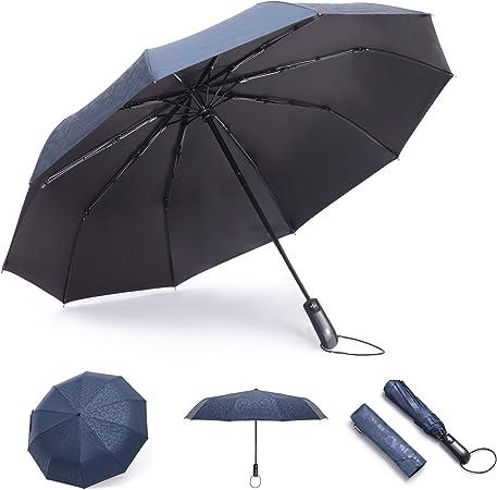 Rechar Compact Travel Umbrella Auto Open & Close Umbrella for Women/Men