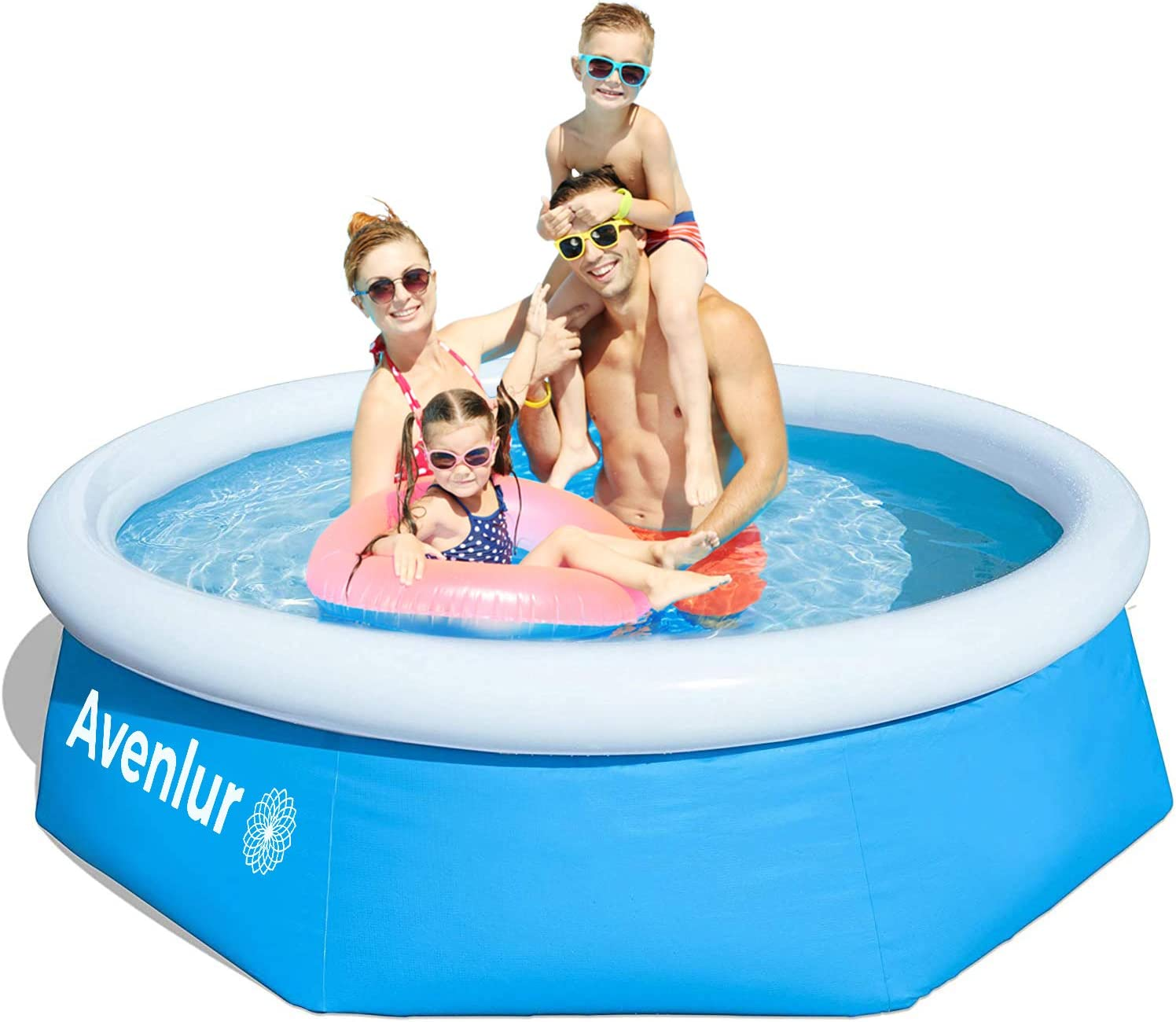 8FT Family Swimming Pools Paddling Pool Garden Fun Adults Kids Outdoor Summer