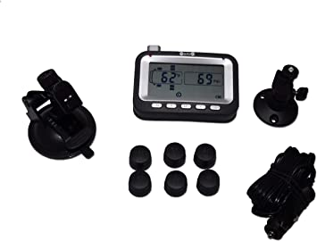 RV Class A Motorhome TPMS Tire Pressure Monitoring System 10 Sensors and Repeater