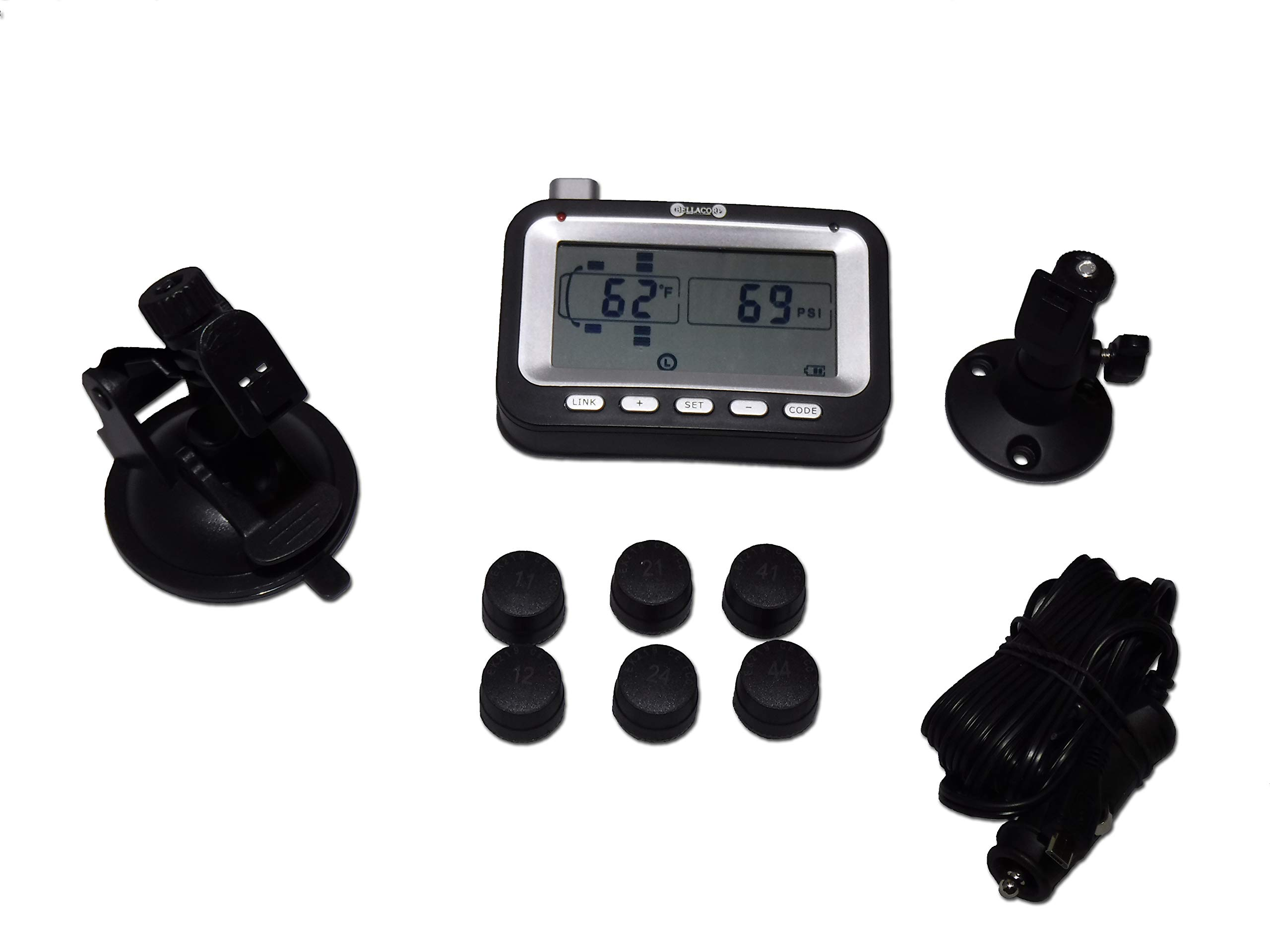 Bellacorp Tire Pressure Monitoring System TPMS 6BU (6) Sensors for Truck, RV, Heavy Pickup, Dually or Box Truck