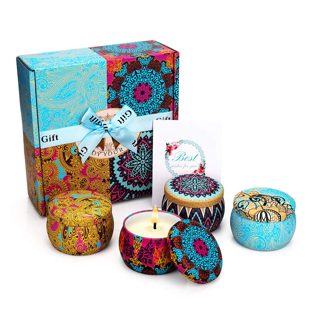 Boho Scented Candles Gift Set