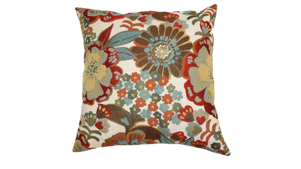 Brentwood 2581 Molly Pillow, 18-Inch, Sunshine - PERFECTLY VERSATILE designs to accent your bed or sofa CONSITENT HIGH-END QUALITY from one of the top decorative pillow manufacturers, Brentwood Originals. TWO PILLOWS IN ONE with its beautifully designed front and soft faux-suede back - living-room-soft-furnishings, living-room, decorative-pillows - 71qZRc88s6L -