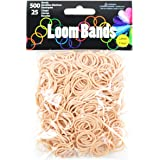 Loom Bands Value Pack, Tan, 500 Bands + 25 Plastic Clasps